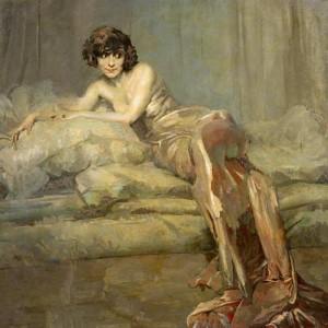 """Giuseppe Amisani, """"Signora in grigio"""", 1922"""