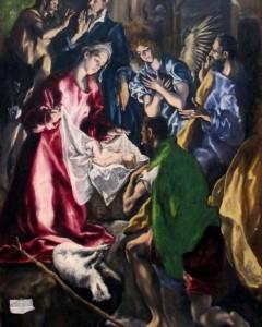 el greco adorazione dei pastori