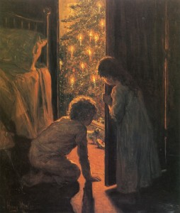mosler..christmas morning 1916 ca