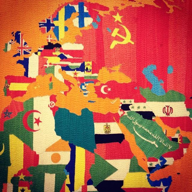 boetti , mappa del mondo