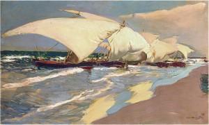 Joaquin-Sorolla-Y-Bastida-Valencian-boats