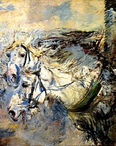 boldini due cavalli bianchi