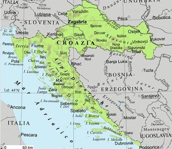 croazia cartina