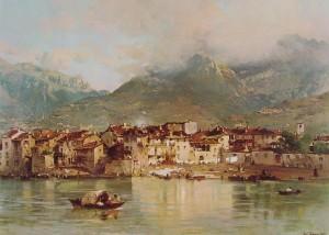 montagne Gerolamo Induno - Pescarenico