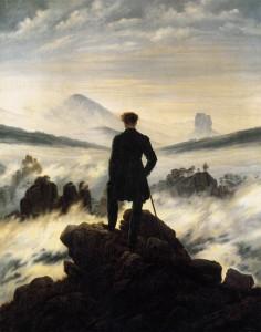 montagne viandante sul mare di nebbia friedrich