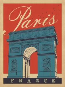 Parigi manifesto vintage 3
