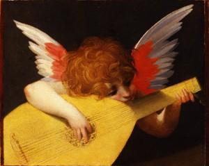 angelo che suona Rosso fiorentino