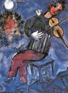 musicisti chagall violinista blu