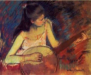 musicisti mary cassatt ragazza col banjo