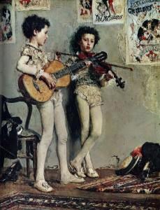musicisti (saltimabanchi musicisti ) mancini