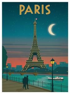 parigi manifesto vintage 15