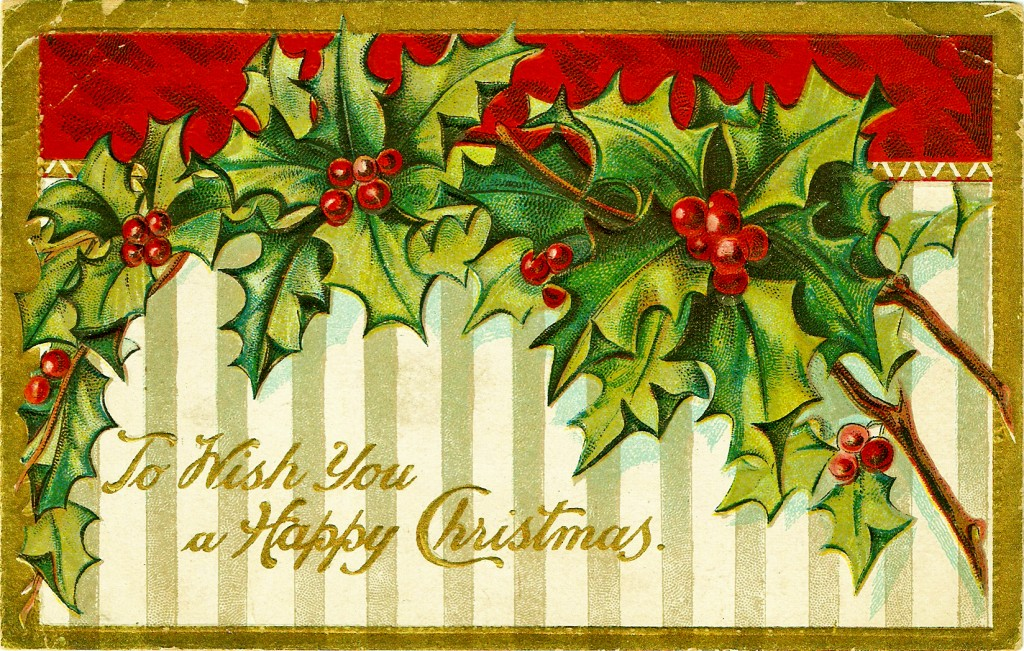 merry christmas cartolina 1909