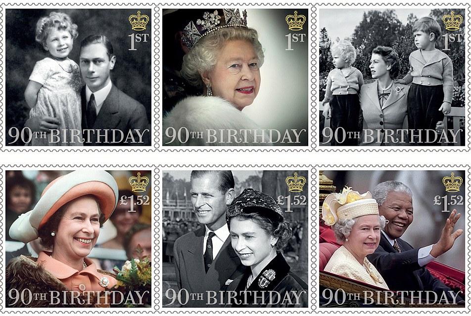 francobolli regina elisabetta