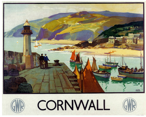 cornovaglia poster vintage 1