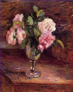rose pissarro rose in un vaso