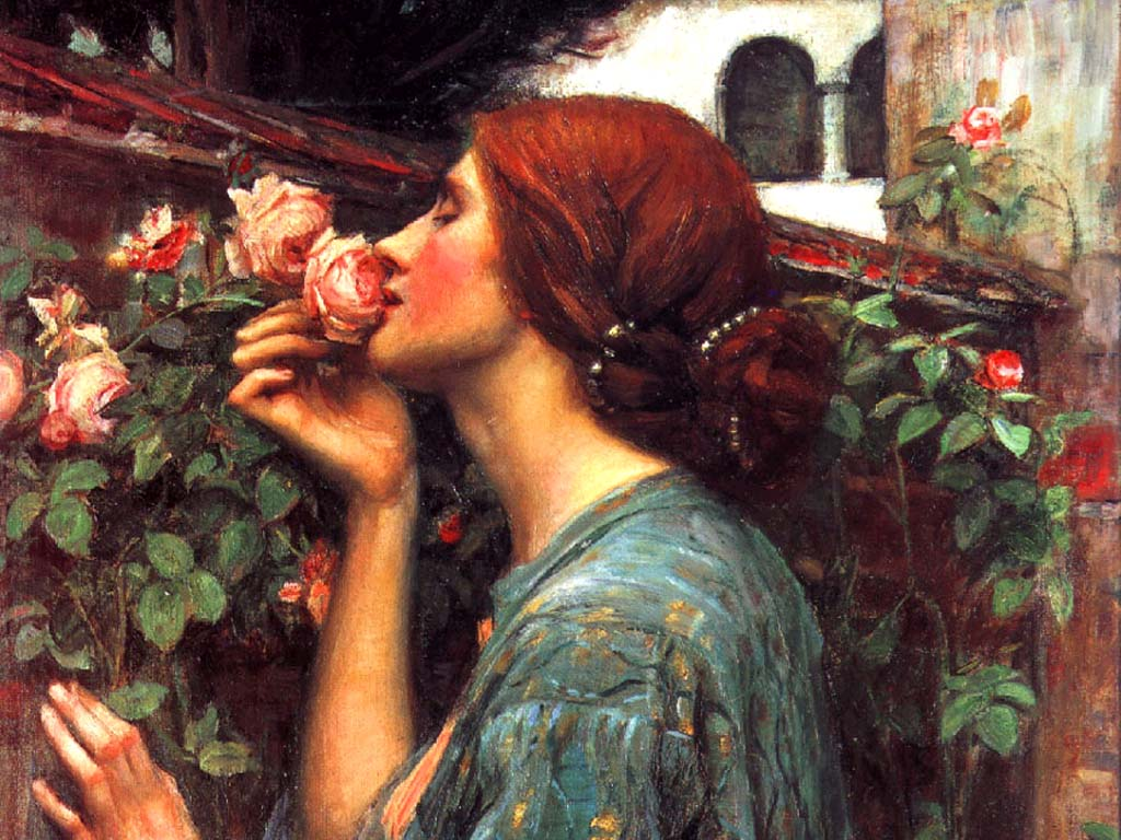 waterhouse anima delle rose particolare