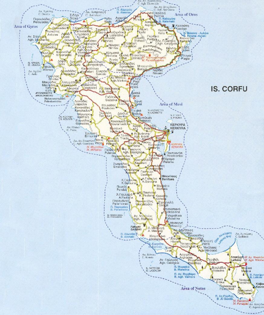mappa corfù