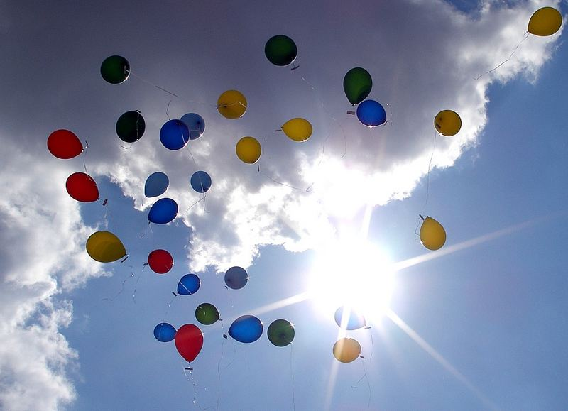 palloncini in cielo