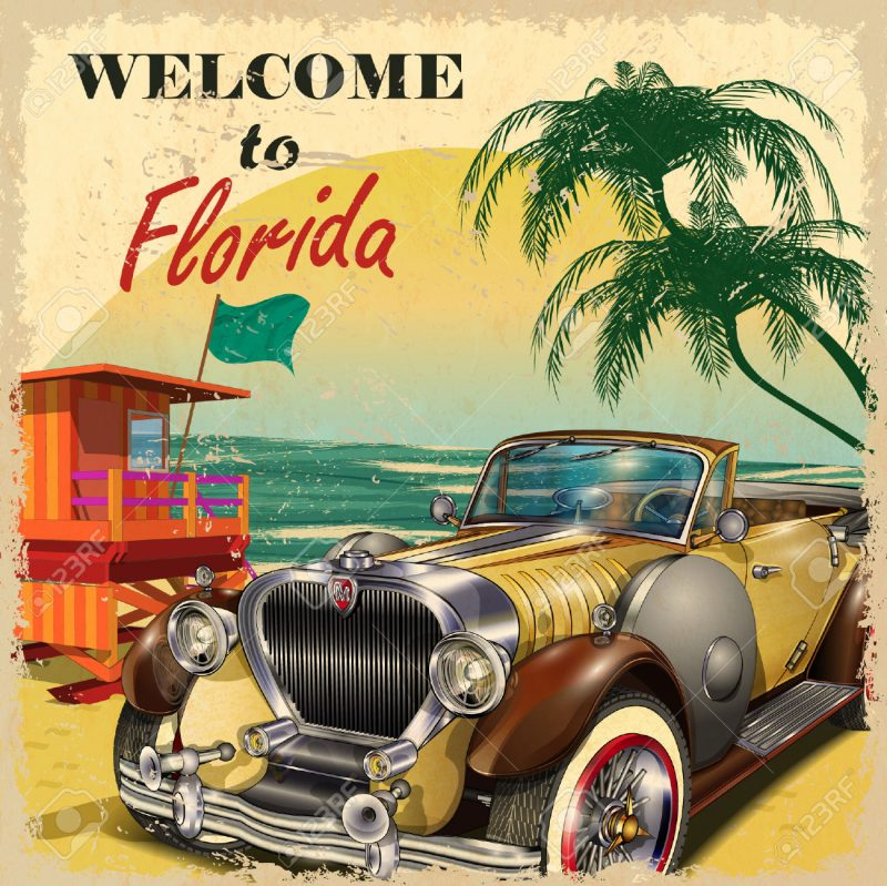 La Florida Nei Poster Vintage Enjoy Travel And Art